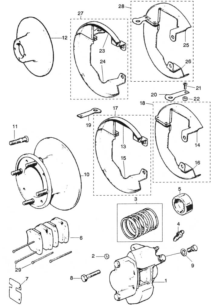 Front Brakes ( Disc Type )